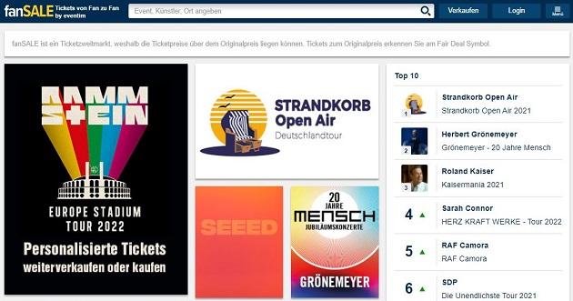 eventim gutschein website fansale ticket verkaufen