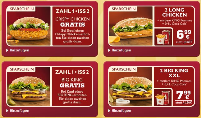 mobile coupons burger king wie funktioniert das