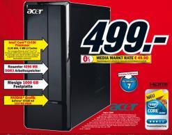 Media Markt Prospekt Knaller Acer Aspire X3900