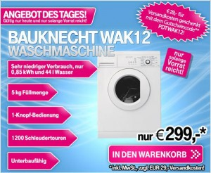 bauknecht waschmaschine als angebot des tages im t online shop. Black Bedroom Furniture Sets. Home Design Ideas