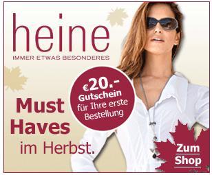 more photos 09c47 086fc Heine.de: 20€ Willkommensgutschein für Neukunden | Unideal.de