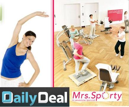 dailydeal 1 monat fitness bei mrs sporty ern hrungsberatung f r 14 90 statt 180. Black Bedroom Furniture Sets. Home Design Ideas