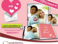 Wunderkarten: 15% Rabatt auf Fotobücher für Valentinstag + 5€ Neukundengutschein