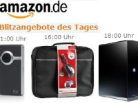 Amazon-Blitzangebote: Pocket-Camcorder, Travel Notebook-Taschen + 2 Terra-Byte Festplatten