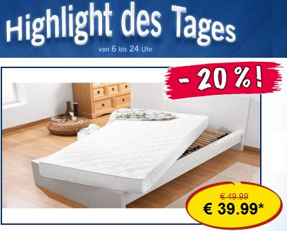 lidl highlight schaumstoff matratze 100 x 200 x 15 cm nur. Black Bedroom Furniture Sets. Home Design Ideas