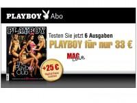 MagClub: 6 Ausgaben Playboy dank 25€ Gutschein von BONAGO für effektiv nur 8€