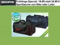 Groupon: Sporttasche von Nike oder Lotto ab 11,11€ (bis 16.03.)