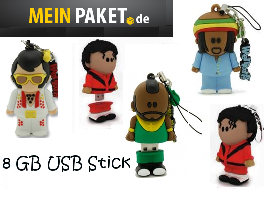 weenicons 3d 8gb usb sticks elvis michael jackson oder tbone ab 19 95. Black Bedroom Furniture Sets. Home Design Ideas