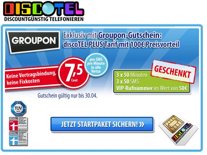 groupon discotel sim karte inkl vip nummer und