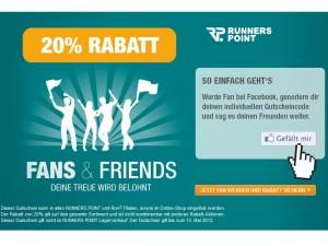 Runners Point: 20% Rabatt auf ALLES für Facebook Fans (online + in den Filialen) – bis 13.05.