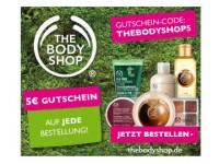 The Body Shop: 5€ geschenkt + keine Versandkosten bis 21.05.