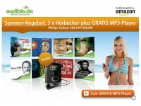 Audible: 3x Hörbücher + gratis Philips MP3-Player