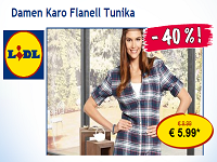 Lidl Highlight: Damen Karo Flanell Tunika für 5,99€ statt 9,99€