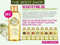 The Body Shop: 50% auf Beautyfying Oils beim Kauf einer Body Butter