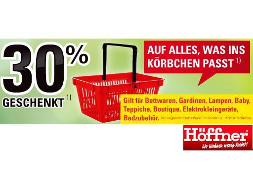 Möbel Höffner Körbchen Aktion Mit 30 Gutschein Unidealde
