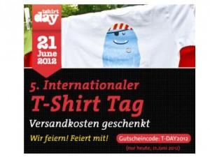 Am Internationalen T-Shirt Tag 2012 versandkostenfrei bei Spreadshirt bestellen