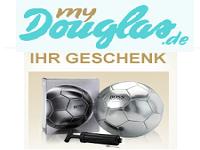 Kostenloses Geschenk bei Douglas: Fußball + Pumpe beim Kauf von Hugo Boss Parfum