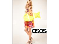 ASOS: Fischförmige Shopper-Tasche aus Leinen