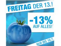 13% Rabatt auf ALLES am Freitag, den 13. bei Blue Tomato – bis 16.07.