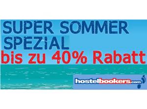 HostelBookers: Super Sommer Special mit bis zu 40% Rabatt auf Übernachtungen verlängert