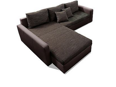 xl sofa mit bett funktion mega g nstig im happy preis bei. Black Bedroom Furniture Sets. Home Design Ideas