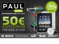 50 Euro Wert-Gutschein bei pauldirekt.de für nur 30 Euro bei QypeDeals