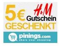 pinings.com: Lieblingsprodukte mit Freunden teilen + 5 Euro H&M Gutschein erhalten