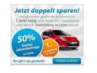 Direct Line KFZ-Versicherung über HGWG abschließen + Erstattung der Hälfte der Kosten im 1. Jahr + 1. Tankfüllung