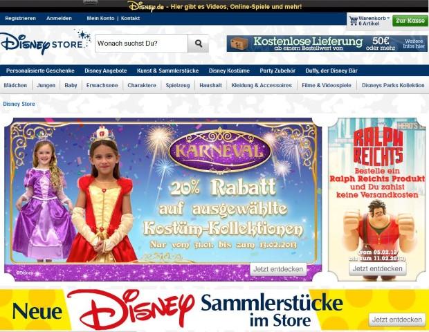 DisneyStore Screenshot