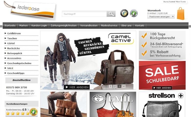hot sale online d866a 39ce9 Lederoase Gutschein: 5€, 10€, 10% Gutscheincodes Oktober 2019