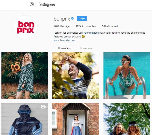 Bonprix auf Instagram