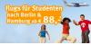 Flug Rabatt für Studenten bei flytouropa: Ab 88 Euro nach Berlin + Hamburg (UPDATE)