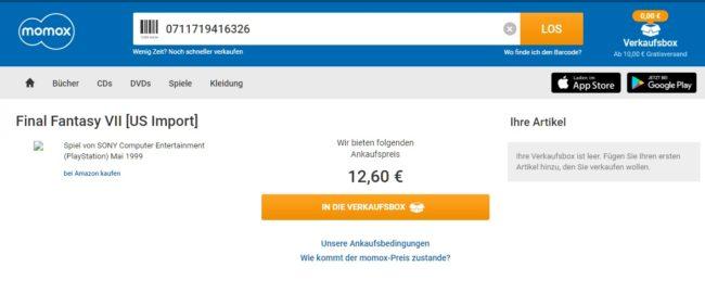 Momox Gutschein verkaufen