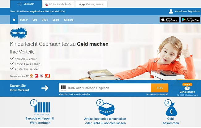 Momox Gutschein Shopseite