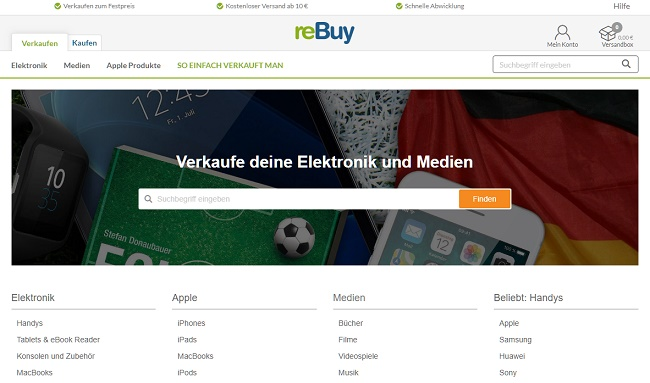 reBuy Gutschein Verkauf