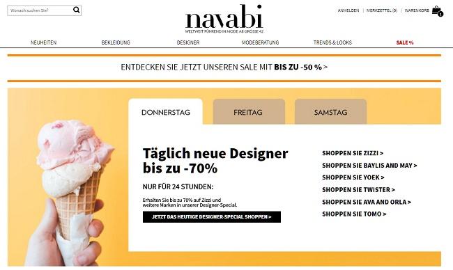 Navabi Gutschein Sales