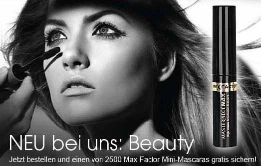 NEU bei OTTO: Beautyprodukte bestellen und gratis Mascara sichern