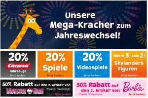 """Toys""""R""""Us Mega Kracher zum Jahreswechsel – bis zu 50 Prozent Rabatt"""