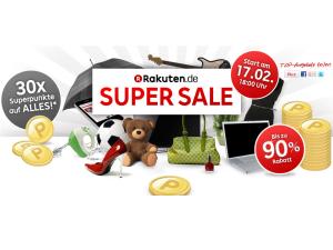 Rakuten Super Sale ab 17. Februar 2013: Deals mit bis zu 90 Prozent Rabatt