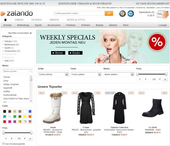 Zalando Outlet (Small)