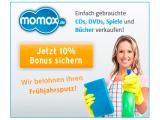 momox Newsletter Gutschein: 10 Prozent Bonus zusätzlich zum Verkaufserlös