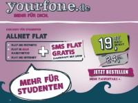 Studenten erhalten dank Yourfone Angebot Allnet- und SMSFlat für 19,90 Euro