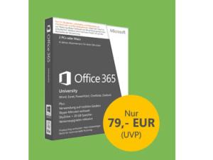 Microsoft Office 365 University Studentenrabatt: 4 Jahres Abo für nur 79 Euro