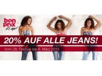 Bonprix Überraschungs-Aktion: 20 Prozent Rabatt auf Jeans