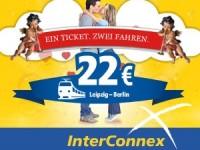 InterConnex-Sommeraktion: Zu zweit fahren und 50 Prozent pro Person sparen