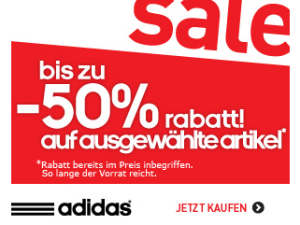 adidas Summer-Sale bis 14. Juli 2013: Bis zu 50 Prozent Rabatt auf ausgewählte Artikel