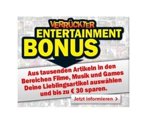 Bonus bei Media-Markt: Geschenkkarte beim Kauf von Games, Musik & Filmen