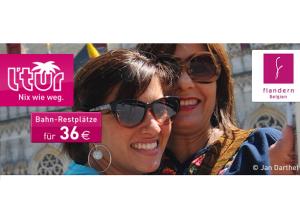 LTUR Last Minute Special August 2013: Mit der Bahn für 36 Euro nach Flandern