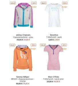 Sale von Kinderkleidung im Zalando Onlineshop