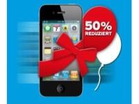 Geburtstagsaktion bei Blau.de: iPhone 4 mit 50 Prozent Preisnachlass